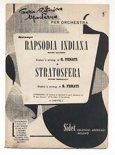 Spartito GIOVANNI FENATI Rapsodia indiana - Stratosfera 1953 Sheet music