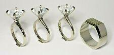 Wedding Napkin Ring Set 4 Diamond Design 1-Men's Wedding Ring 3-Engagement Rings