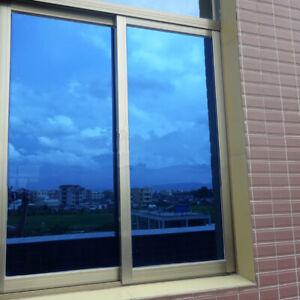Deep Blue Home Tinting Decoration Window Solar Tint Film One Way Mirror Privacy