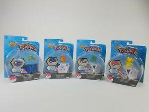 Lot of 4 Pokemon Throw N Pop Poke Ball Squirtle, Charmander, Bulbasaur, Pikachu
