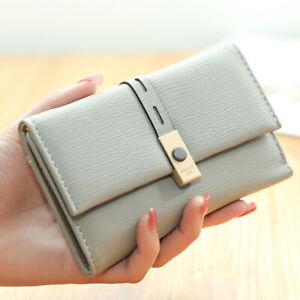 New Women Wallet Medium Fashion Lady Pu Zipper Hasp Purse Ticket Holder Clutch