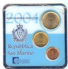 EUROS SAINT MARIN MINI SET 2004 1 ET 10 CENTS + 1 €