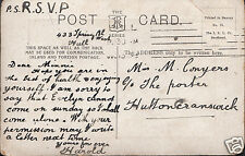 Genealogy Postcard - Family History - Conyers - Hutton Cranswick    BH5670