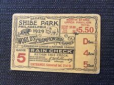 1929 world series ticket Chicago Cubs Philadelphia As Clinch Title Foxx Grove G5