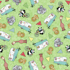 BAZOOPLES CAMPOUT TOSS CAMPERS FABRIC CP62946