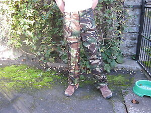British Army Woodland Camo Camouflage Trousers Soldier 95 Military Surplus