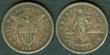 20 Centavos 1903 US Philippine United States of America Silver Coin PH#B2