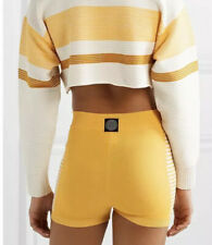New Nagnata Yoni Side Stripe Short White Yellow Cotton Available In S/M And M/L