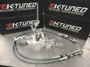 K Tuned Billet RSX Shifter & PW Race Shifter Cables for Honda Acura K Swap K20