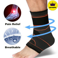 Ankle Brace Support Compression Pain Relief Sleeve Bandage Sports Foot Wrap