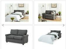 Black Loveseat Sofa Sleeper Memory Foam Mattress Sofa Beds Small Spaces Seat