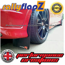 rallyflapZ HONDA CIVIC TYPE R FN2 (2007-2010) Mud Flaps Black Logo Small 3mm PVC