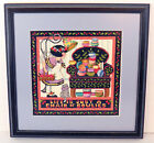 Mary Engelbreit -Life is Just a Chair of Bowlies- Framed Cross Stitch 15 x 15