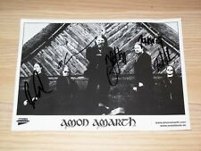 AMON AMARTH CD BOX SIGNED PICTURE PHOTO / ORIGINAL AUTOGRAPHED in MINT
