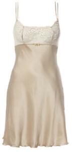 NEW / NEU / Intimissimi elegant nighty beige 100% silk seta / S