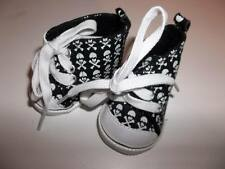 "Black Skull with Crossbones Sneakers Shoes 18"" American Girl Doll Clothes New"