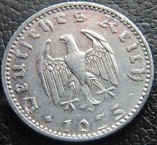 GERMAN 1935 - D 50 REICHSPFENNIG 3RD REICH ALUM NAZI GERMANY COIN (WC2061)
