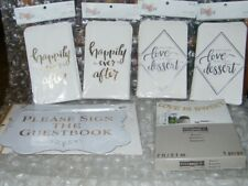 Wedding / Wedding Shower Gift Bags & Signs New in package