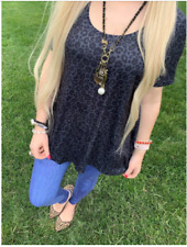 Leopard Black Perfect Fit Short sleeve top- S- Charlie's Project- Ship Free!