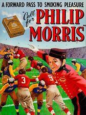 1930s Philip Morris Cigarettes Football High Quality Metal Magnet 3 x 4  9292