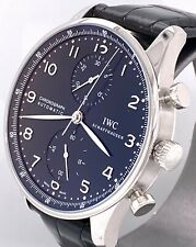 IWC Portuguese Chrono Automatic 41 mm Watch - Black Dial - IW371447 BRAND NEW !
