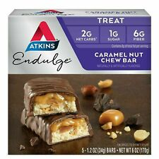 Atkins, Endulge, Caramel Nut Chew Bar, 5 Bars, 1.2 oz (34 g) Each