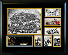 100 YEARS OF ANZAC LIMITED EDITION FRAMED MEMORABILIA