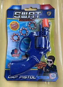 8 Shot Cap Pistol Gun Caps Rings Plastic Toy Kids Child Outdoor Revolver Gifts