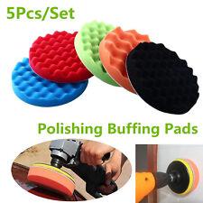 5Pcs Universal 7 inch Sponge Foam Polishing Buffer Pad Kit For Car SUV Polisher
