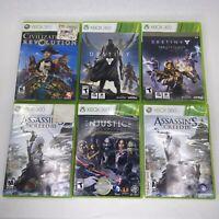 Xbox 360 Lot Of 6 Games Destiny Assassins Creed Injustice Civilizations