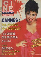 CINE REVUE 1986 n°21 maria conchita alonso aristote onassis jean harlow cannes