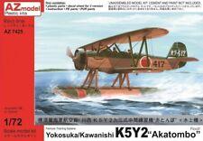 AZ Model 1/72 K5Y2 Akatombo WWII Japanese Floatplane Biplane Model Kit 7425