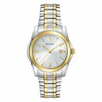 Bulova Men's Quartz Two-Tone Bracelet Date Calendar 40mm Watch 98H18