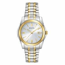 Bulova Men's Quartz Two-Tone Bracelet Date Calendar 40mm Watch 98H18
