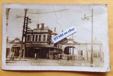 1918 PORTSMOUTH, VA, FERRY HOUSE NORFOLK BERKLEY GOSE WWI IS OVER POSTCARD RPPC