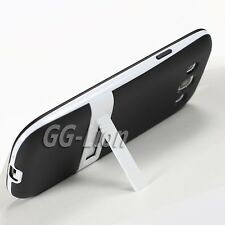 black.TPU Silicone Case Skin Cover with Stand for Samsung Galaxy S III,S3,i535