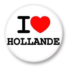 Porte clé Keychain Ø45mm ♥ I Love You j'aime François Hollande Président