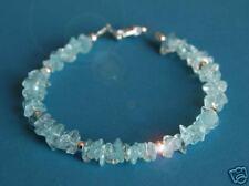 Aquamarine & Sterling Silver Bracelet- Stunning Stylish ShoreThing UK