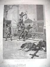 SACCHEGGIO DEL TEMPIO DI CESENA Risorgimento Chiesa Antica Stampa Matania 1889