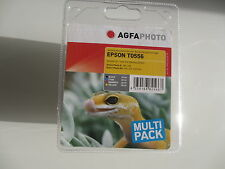 ORIGINAL AGFA Epson Tinten Set T0556  Stylus Photo RX240 RX420 RX425 4RX30 520