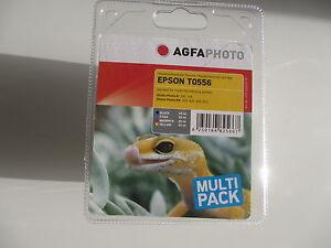 Originale Agfa Epson Inchiostro Set T0556 Stylus Photo RX240 RX420 RX425 4RX30