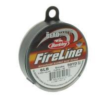 FireLine Braided Bead Thread Size D .006 50y Smoke Gray 41449 Beadsmith