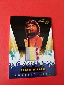BRIAN WILSON THE BEACH BOYS SINGER CONCERT WORN RELIC MEMORABILIA CARD #11
