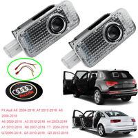 Car Door LEDs Projector Laser O+Logo+Text For Audi A8/7/6/5/4/3/1 R8 TT Q7 Q5 Q3