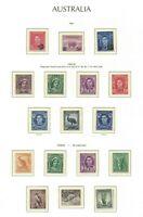 APD585) Australia 1941 Surcharges 1942/48 KGV 1948/56 Zoological Definiti