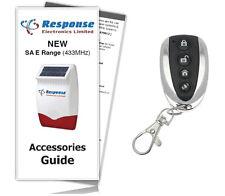 Response Alarms SAR E / SAURC Premium Executive Remote Control 433MHz /Inc Guide