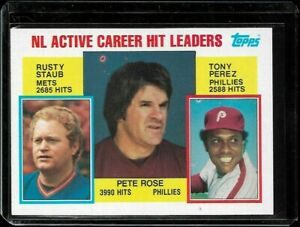 1984 Topps Active Hit Leaders Pete Rose #702