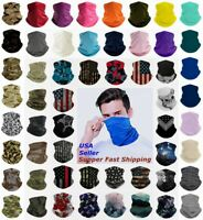 Bandana Face Mask Cover Scarf Balaclava Neck Gaiter Reusable Washable Breathable