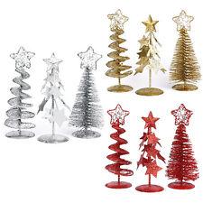 Mini Christmas Tree Ornaments Xmas Gift Party Small Desk Table Decor Home