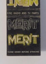 1950s Merit Fine Radio TV Parts Coil and Transformer Corp. Chicago IL Cook Co MB